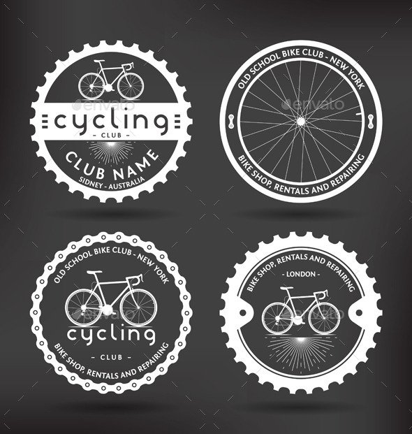 Cycling Badges - Sports/Activity Conceptual