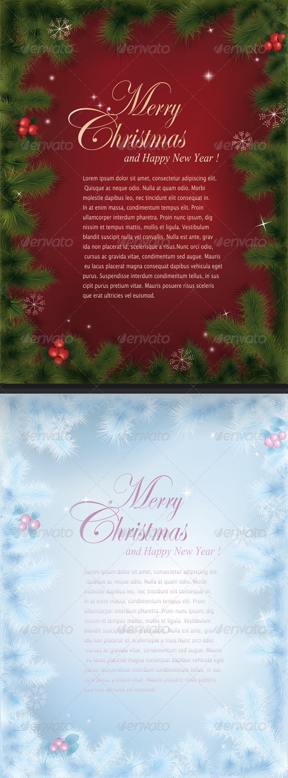 Vector Christmas cards - Christmas Seasons/Holidays