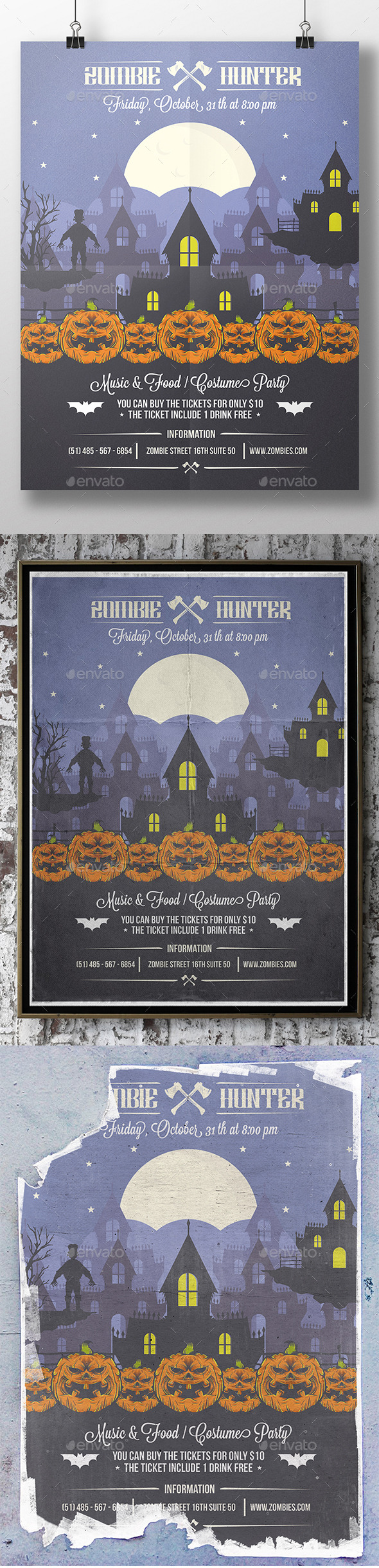 Halloween Party Poster Flyer - Holidays Events