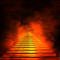 Staircase leading to heaven or hell. Light at the End of the Tun - PhotoDune Item for Sale