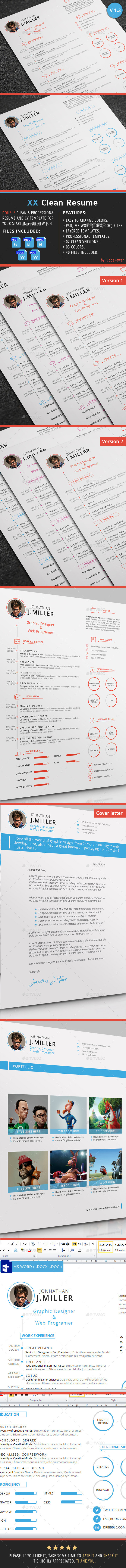 XX Clean Resume - Resumes Stationery