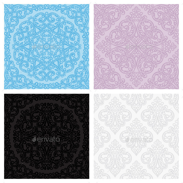 Set of vintage seamless patterns - Patterns Decorative