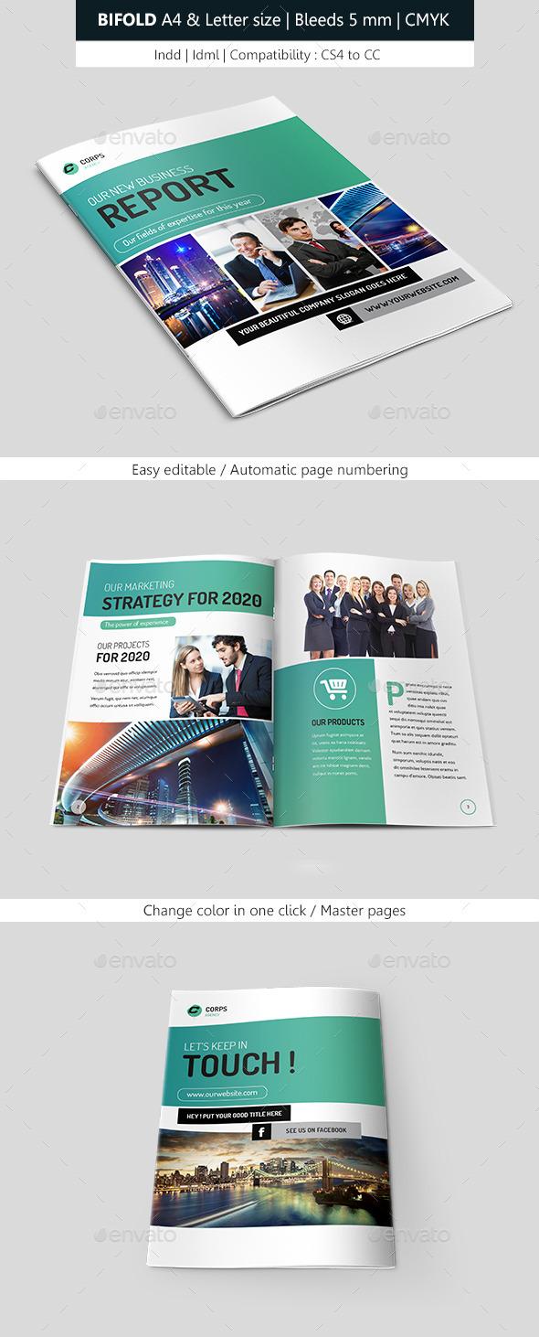 Bifold Business & Corporate Brochure Indesign - Informational Brochures