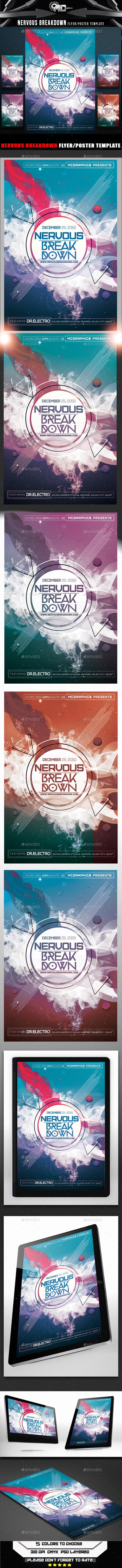 Nervous Break Down Flyer Template - Clubs & Parties Events