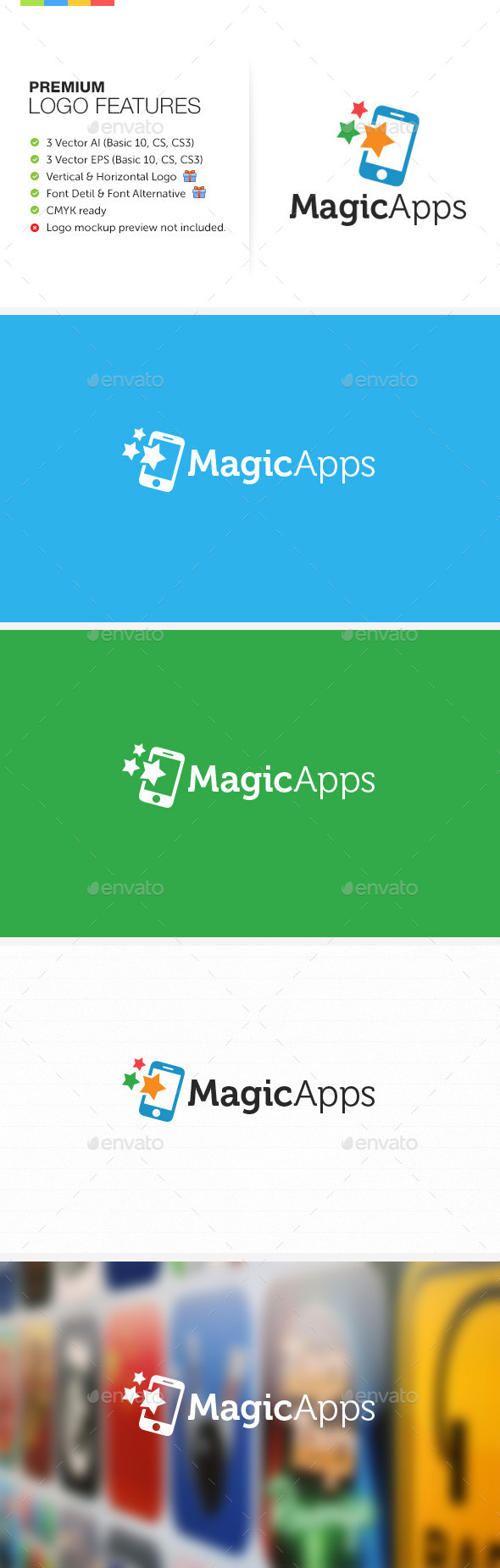 Magic Apps Logo - Symbols Logo Templates