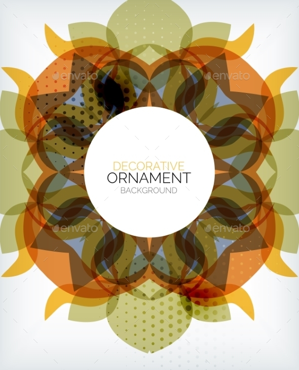 Decorative Retro Ornaments Background - Abstract Conceptual