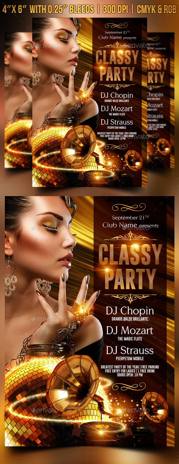 Classy Party Flyer Template - Clubs & Parties Events