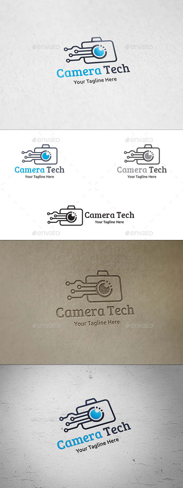 Camera Tech - Logo Template - Objects Logo Templates