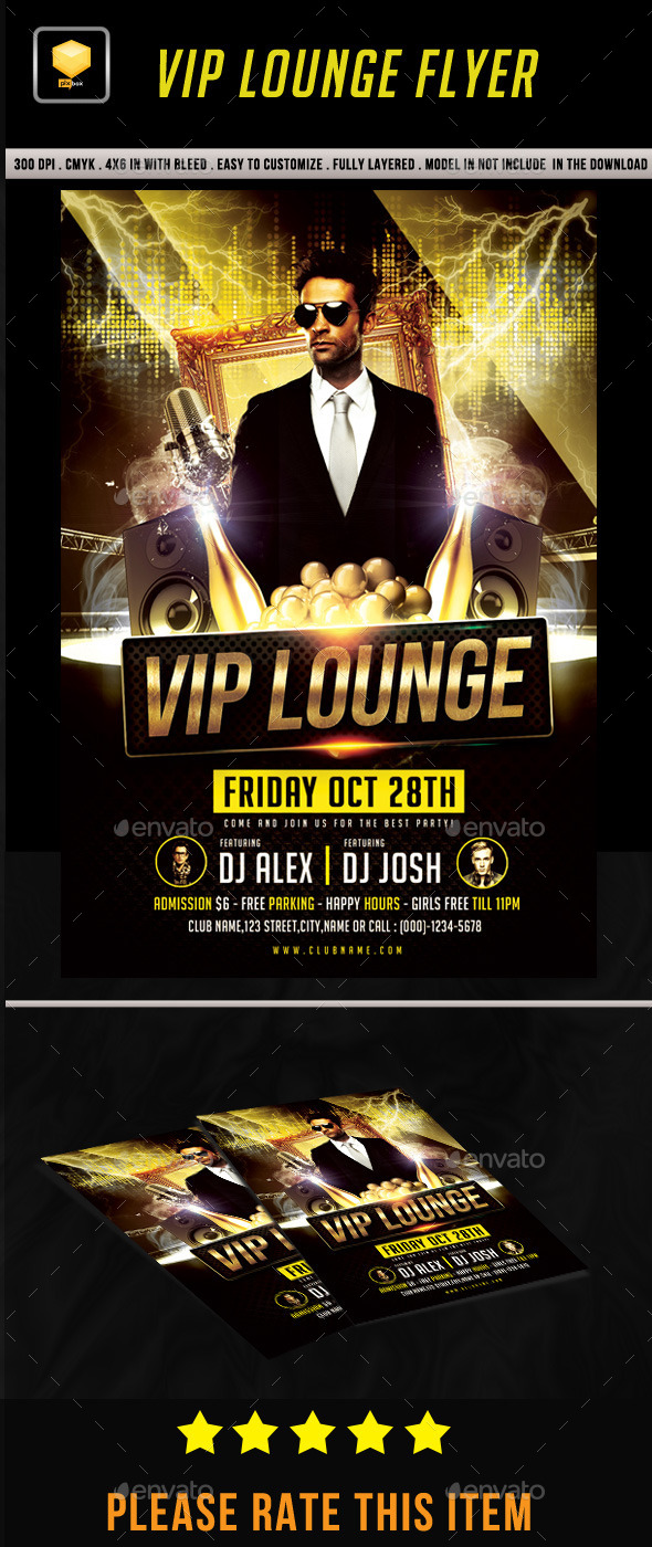 VIP Lounge Flyer - Events Flyers