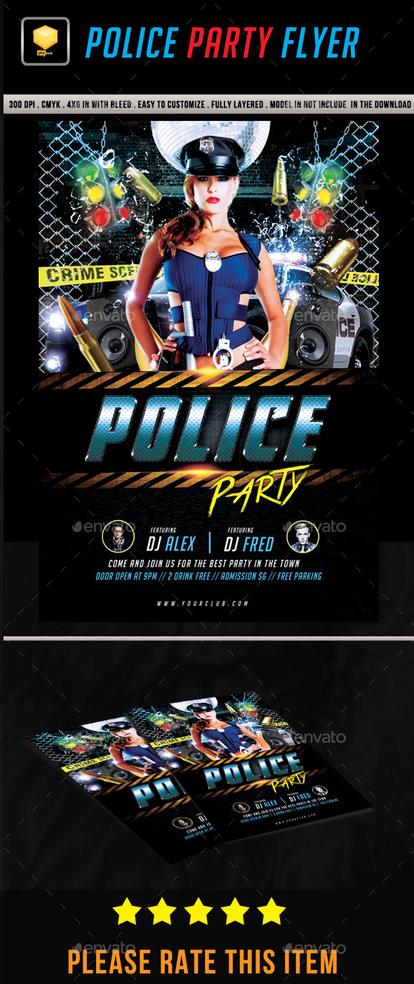 Police Party Flyer - Clubs & Parties Events