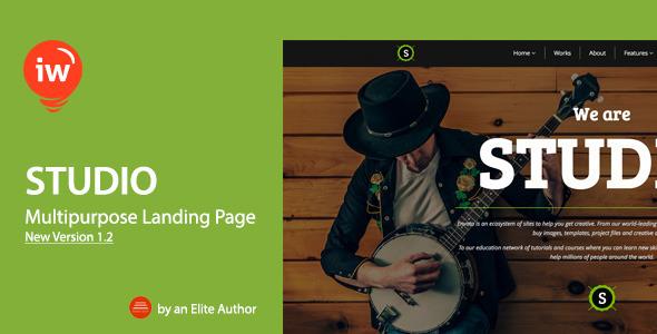 Studio – Responsive Landing Page