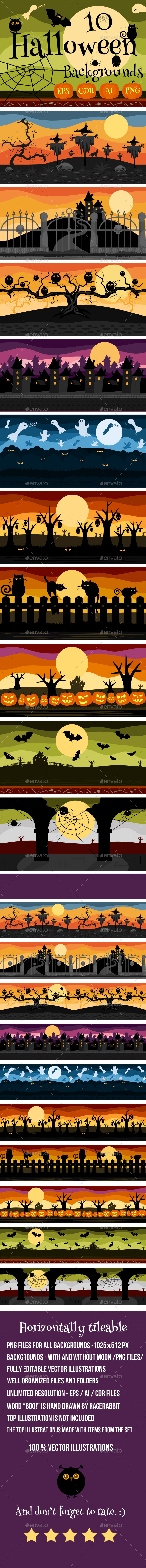 10 Halloween Game Backgrounds - Backgrounds Game Assets
