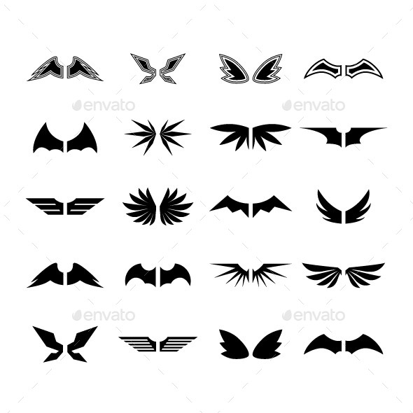 Wings Vector - Miscellaneous Characters