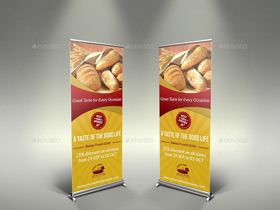 Bakery Signage Roll Up Banner Template