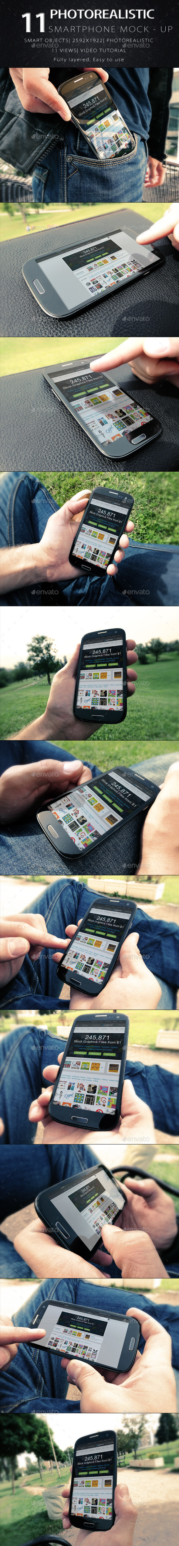 11 Phone Mock Ups - Mobile Displays