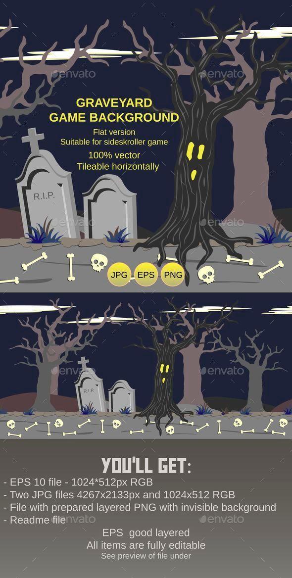 Graveyard Game Background - Backgrounds Game Assets