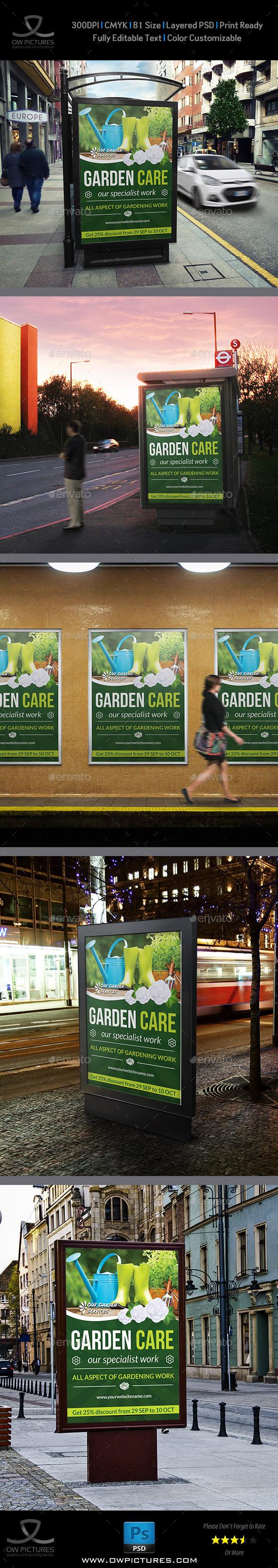 Garden Poster Template - Signage Print Templates