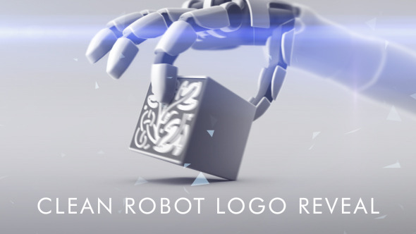 Clean Robot Logo Reveal