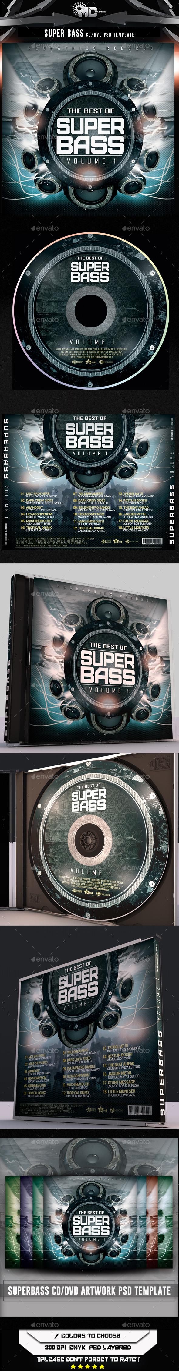 Super Bass CD/DVD Template - CD & DVD Artwork Print Templates