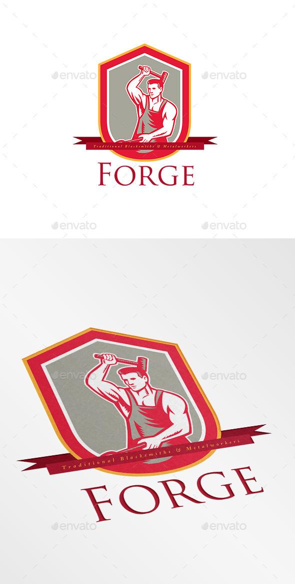 Forge Blacksmiths Logo - Humans Logo Templates