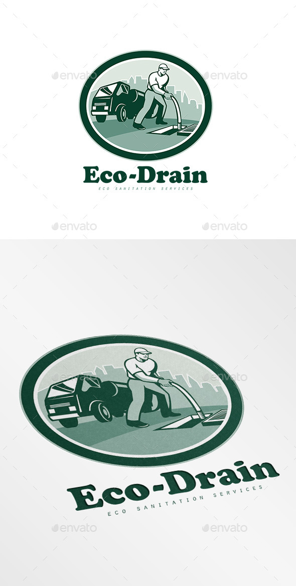 Eco-Drain Sanitation Services Logo - Humans Logo Templates