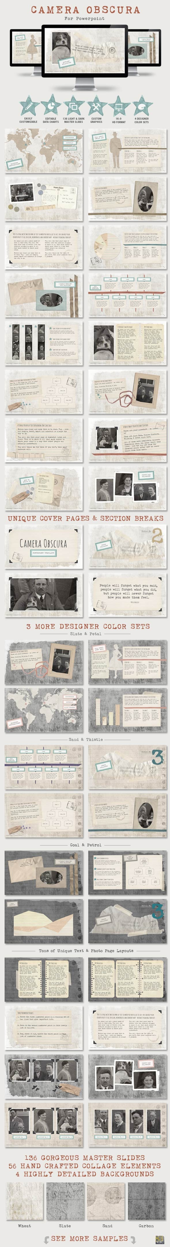 Camera Obscura Powerpoint Presentation Template - Creative PowerPoint Templates