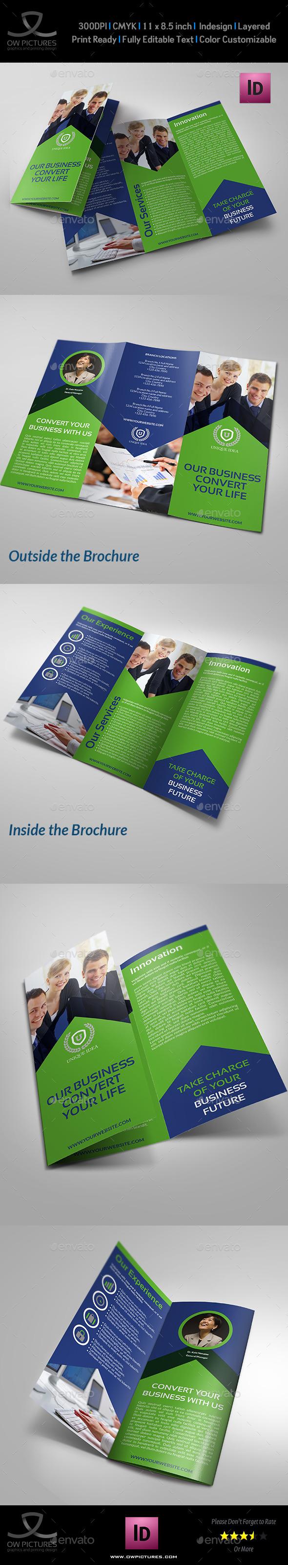 Corporate Brochure Tri-Fold Template Vol.13 - Corporate Brochures