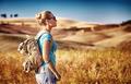 Tourist girl enjoying view - PhotoDune Item for Sale