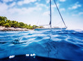 Luxury sailboat near tropical island - PhotoDune Item for Sale