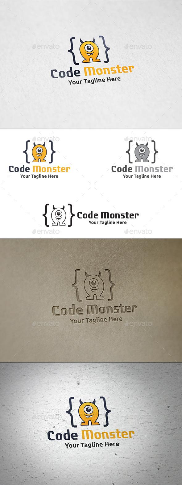 Code Monster - Logo Template - Animals Logo Templates