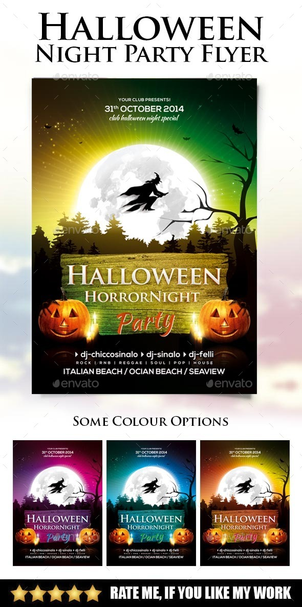 Halloween Night Party Flyer - Events Flyers