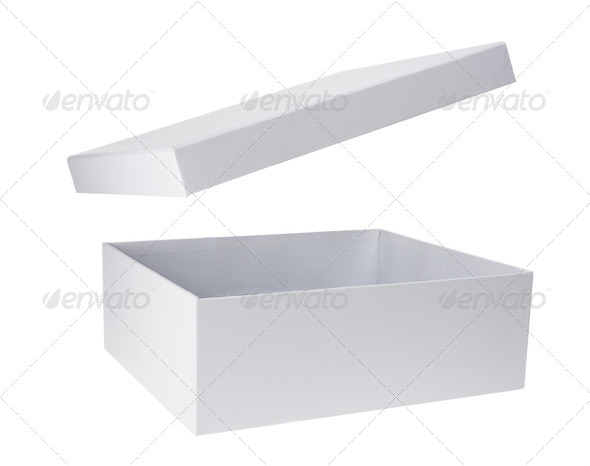 Cardboard Box with Lid - Stock Photo - Images