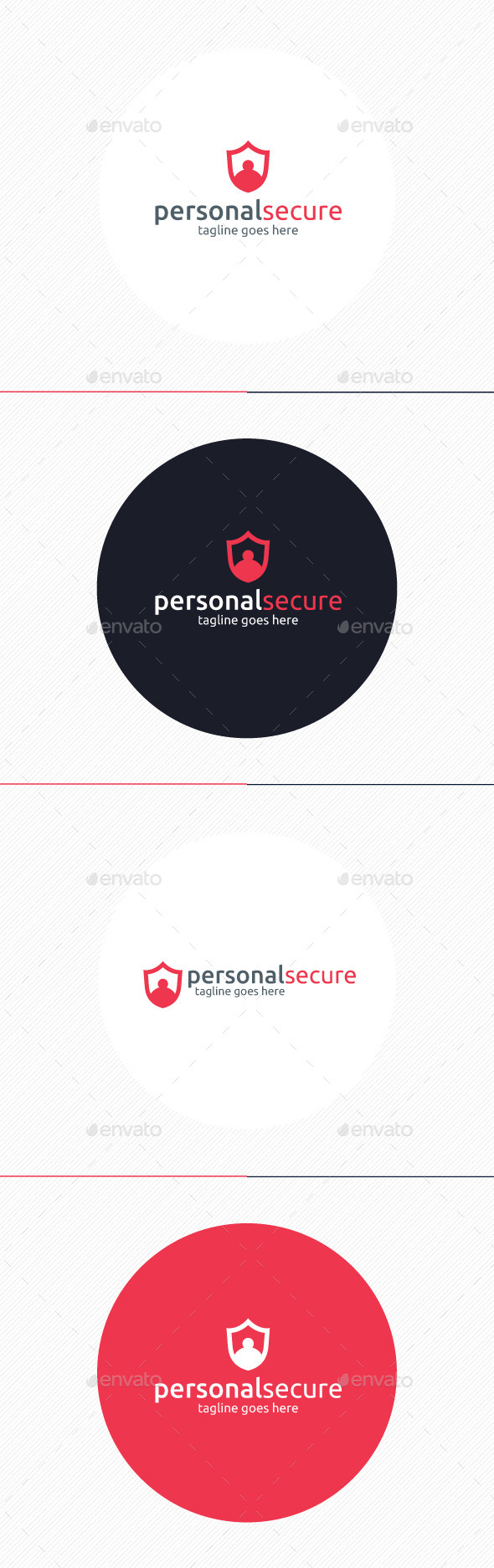 Personal Secure Logo - Humans Logo Templates