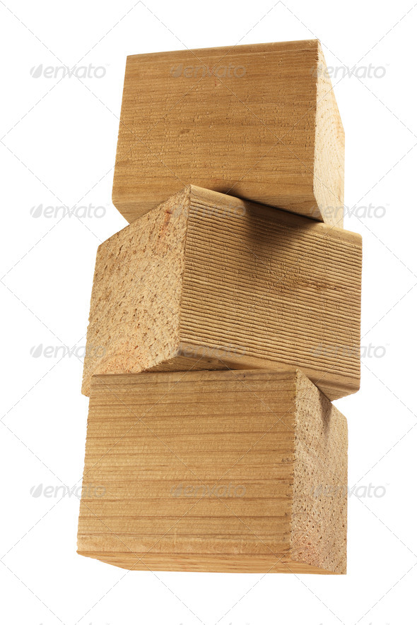 Stack of Wooden Blocks - Stock Photo - Images