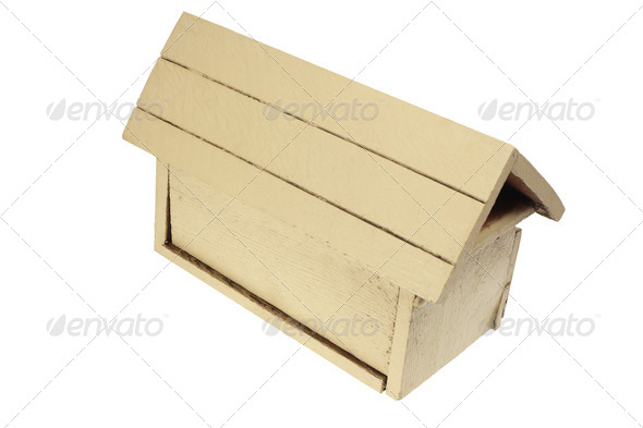 Wooden Mail Box - Stock Photo - Images