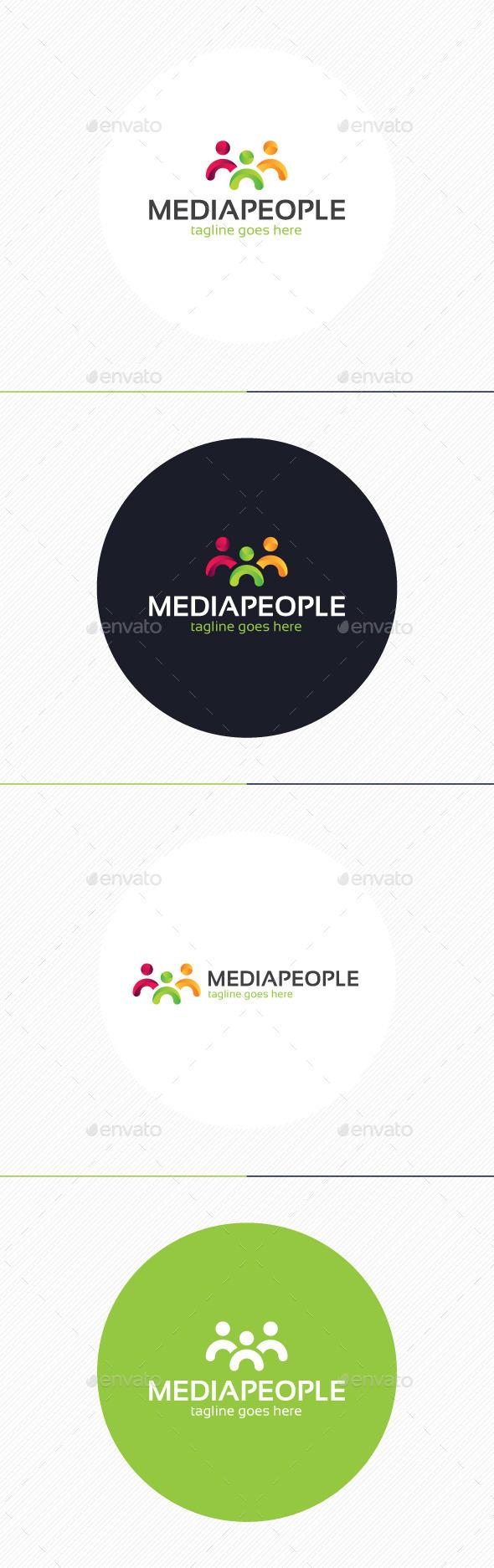 Media People Logo - Humans Logo Templates