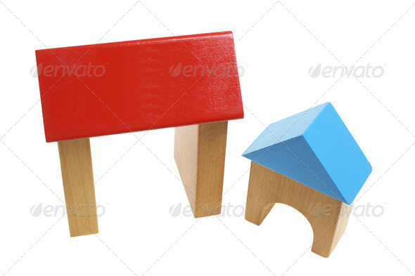 Wooden Toy Houses - Stock Photo - Images
