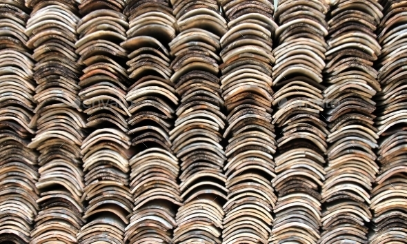 Stack of Roofing Tiles Texture - Stone Textures
