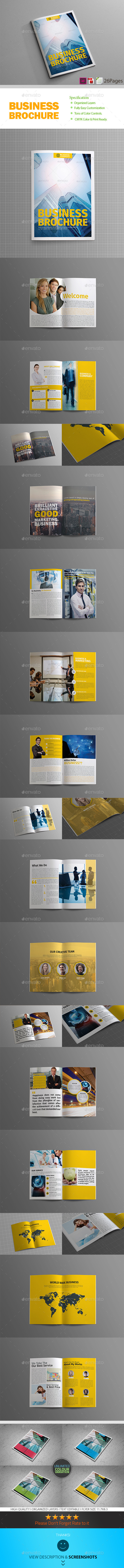 Business Plan - 26 Pages Business Brochure - Corporate Brochures