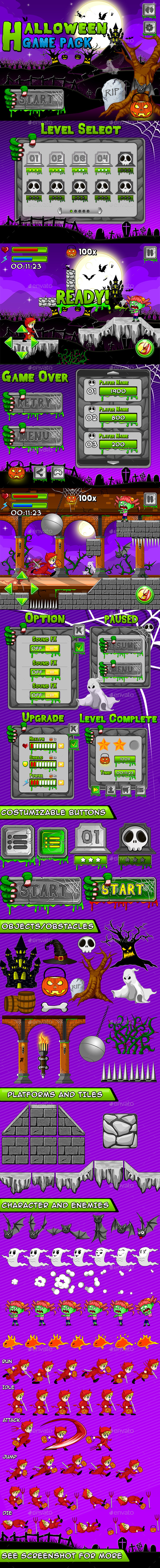 Halloween Theme Game Pack - Game Kits Game Assets