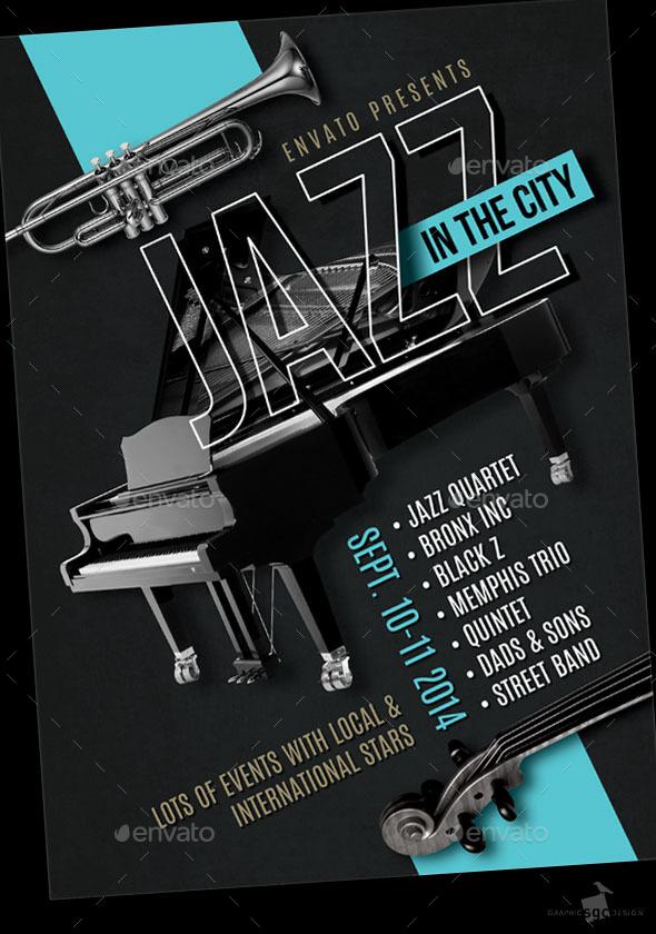 Jazz Festival Flyer - Concerts Events
