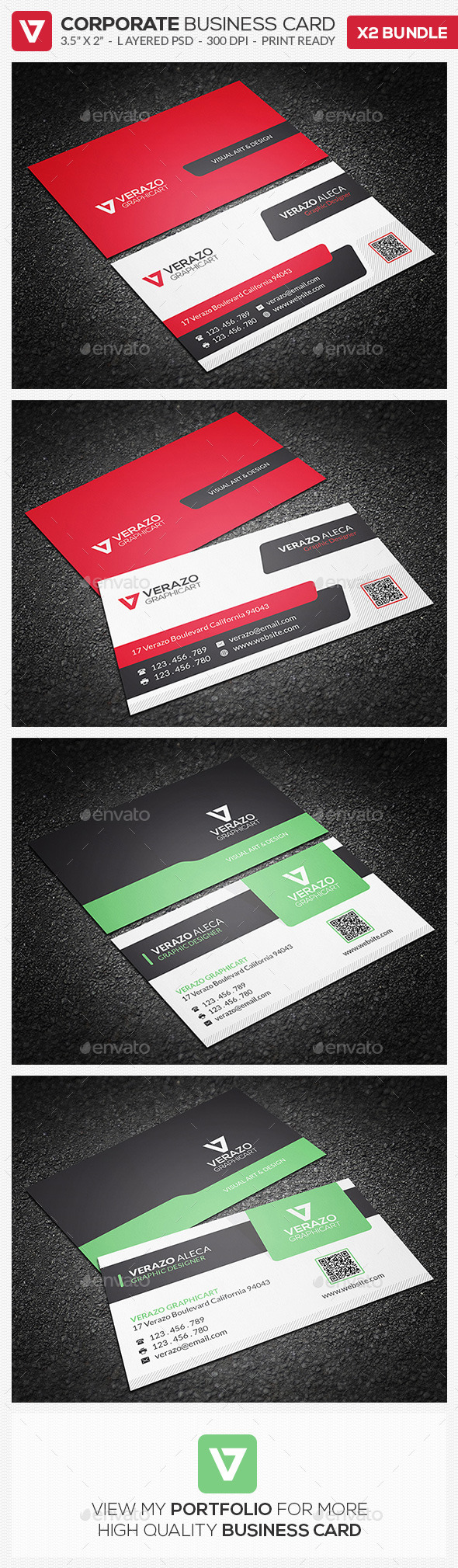 Business Card Bundle 09 - Corporate Business Cards