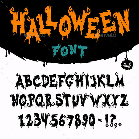 Halloween Vector Font - Halloween Seasons/Holidays