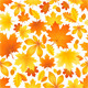 Seamless Pattern of Autumn Leaves - GraphicRiver Item for Sale