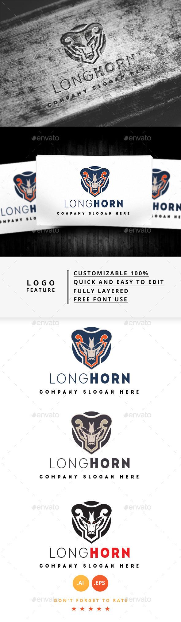 Long Horn Logo - Logo Templates