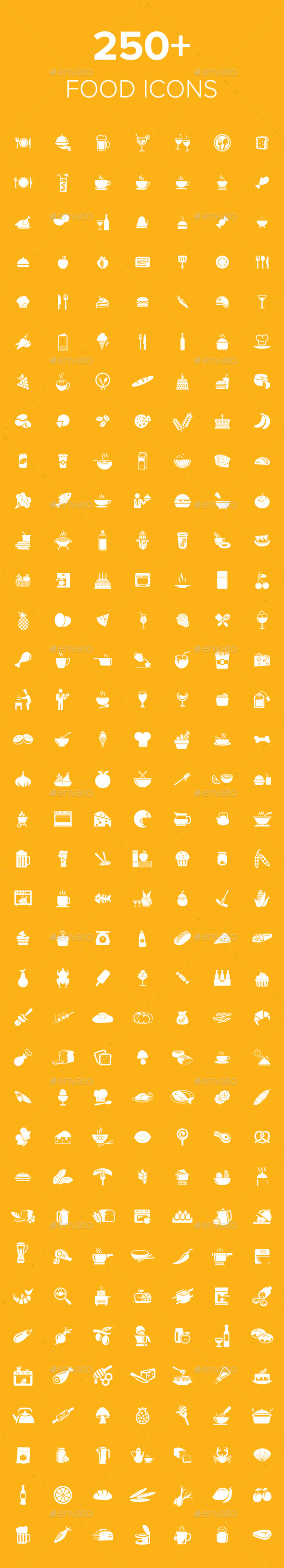 250+ Food Icons - Food Objects
