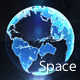 Holographic Earth Globe in Space - VideoHive Item for Sale