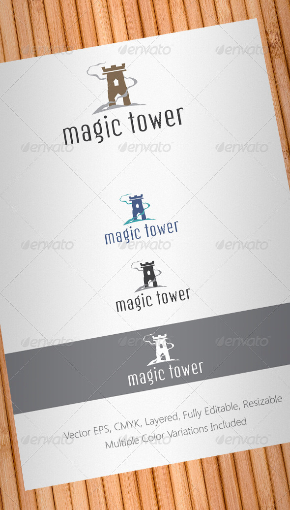 Magic Tower Logo Template - Buildings Logo Templates