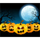 Halloween Pumpkins in the Full Moon - GraphicRiver Item for Sale