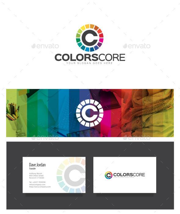 ColorsCore - Letter C Logo - Letters Logo Templates